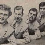 DE PEDRO'S 1971 vlnr: Wim Steenpaal, Kees Balemans, Michel Balemans en Kees Tak