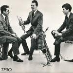 Het Echo Trio.  vlnr: Wim Laseroms, Dré Koevoet en Jan Magielse (collectie W. Laseroms).