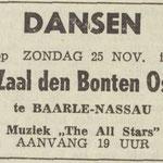THE ALL STARS: Dagblad de Stem 25-11-1962