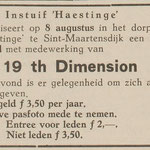 19th. DIMENSION: Eendrachtbode 30-7-1970