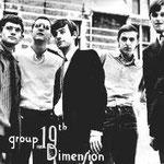 19th. DIMENSION - promotiefoto van de nieuwe bezetting vlnr: Harry Voermans, Frans Mortiers, Kees Kats, Nico Franken en Chris Videler.