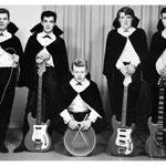 The Kontiki's (1965) - vlnr: Gilbert Verelst, Wilfried Cleiren, Wilfried Sluijts, Johnnie Hendrickx en René Adriaansen