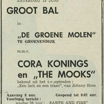 CORA KONINGS & THE MOOKS: Dagblad de Stem 12-6-1970