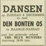 THE BLUE HUNTERS: Dagblad de Stem 5-12-1964