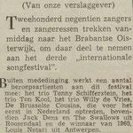 Jack Dens & The Swallows: Dagblad de Stem 27 mei 1961