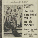 MILLY (Dimphy de Wit) & THE MOOKS: Dagblad de Stem 28-7-1972
