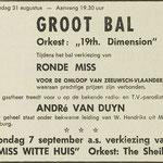 19th. DIMENSION: Dagblad de Stem 29-8-1969