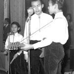 The Cookes - Dynamic Club in Amicitia, Den Haag 5 jan. 1963 - vlnr: George, James en Arthur Cooke