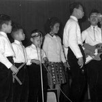 The Cookes - Dynamic Club in Amicitia, Den Haag 5 jan. 1963 - vlnr: Frank, Dave, George, Ann, James en Arthur Cooke
