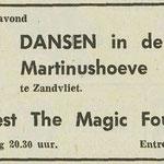 THE MAGIC FOUR: Dagblad de Stem 19-5-1972
