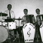 The Gold Stars (1961). vlnr: Kees Fens, Wim Laseroms en Piet Akkermans.