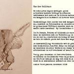 Tekening en gedicht van André Verwijmeren, naar aanleiding van het overlijden van Cees Dieriks op 10 december 2017