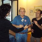 Antonino Di Bartolo e Federico Bartelli ricevono la targa ricordo