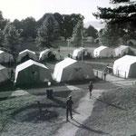 Blick auf die Feuerstelle 1964