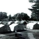 Blick aus der Freilichtbühne in Richtung Zeltrund 1963