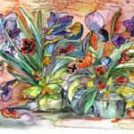 Blumen II, 1989, 21x31cm, Aquarell