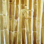 Bambus con Mate - Kaffeemalerei auf Leinwand 60 x 60 cm