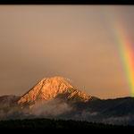 Aplenglühen mit Regenbogen - Villach