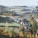 Marbach um 1900, heute ein Ortsteil von Marburg