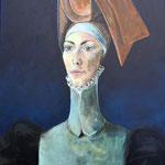 """""""Lucrezia"""", Acryl auf Leinwand, 70x100 cm, 2015."""