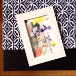"""""""A Little Soul"""", Aquarell auf Papier, 10,5×14,8 cm, 2015."""
