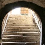 Treppe in den Keller der Schlossscheune