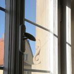 Volutenschnecke an der Fensterlaibung; Sie verzieren alle Fenstergewände des Schlosses und sind jede für sich individuell gestaltet