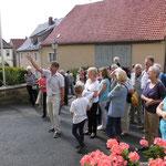 Am Tag des offenen Denkmals wurden durch drei ehrenamtliche Führer wieder über 400 Interessierte durch Schloss und Schlossscheune geführt.