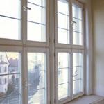 Blick aus dem Fenster auf den Kirchberg