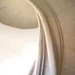 Eine architektonische Besonderheit: die freitragende Wendeltreppe