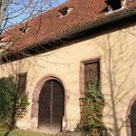 großes Rundportal der Schlossscheune