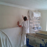 Trustee Primrose Painting Painter and decorator (Frank) hard at at work.