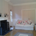 After shot: Painting and decorating to lounge in family home, Stansted Abbotts, Herts.