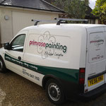 Primrose Painting and decorating van.