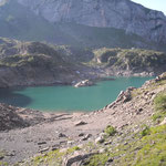 Le lac des Gloriettes 1668 m à proximité du parking