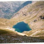 Lac de Sabocos juste en d'Anos 1900 m au dessus de la station de skis de Panticosa
