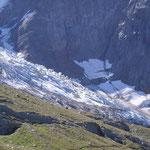 Le glacier de Bionnassay à proximité du Nid d'Aigle.