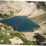 Le lac Nère 2141 m dans un paysage des plus austère