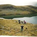Le lac de Maucapéra sous le pic de même nom dan le vallon de l'Yse ( Luz st Sauveur )