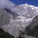 Italie, glacier dans le Val Veney (Courmayeur )