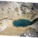 Le lac de la Hourquette 2405 m avant le col de Bastanet 2507 m