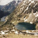 Estany Long 2000 m, devant l'estany Rédo (Rond )2121 m (Encantats )