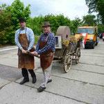 Festkomitee und Vereinsmitglieder beim erfolgreichen Probelauf zum Ohrdrufer Stadtfest am 25.05.2013 mit Roland Saar