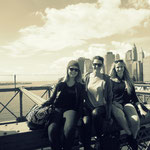auf der Brooklyn Bridge :)