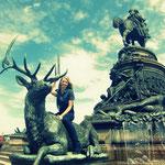 Washington Monument (Herr W. auf seinem Pferd leider nur von hinten zu sehen)