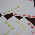 りんごレターセット