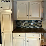 After Picture Refinished Kitchen Cabinets