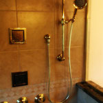 Glass Enclosed Standup Shower with Body Jets