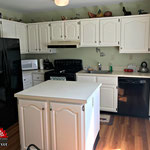 After Pictures Painted Whtie Cabinets in Burlington Township, NJ