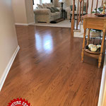 After picture of Hardwood Oak Flooring upgrade in Burlington Township, NJ